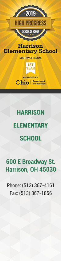 Harrison Elementary School - Yellow Badge