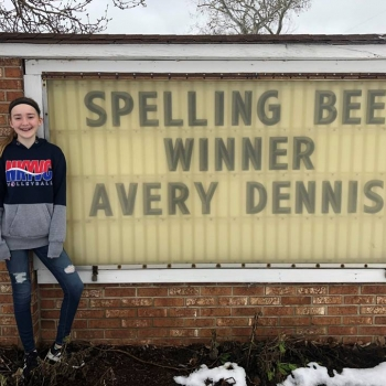 Avery Dennis CR Spelling Champ